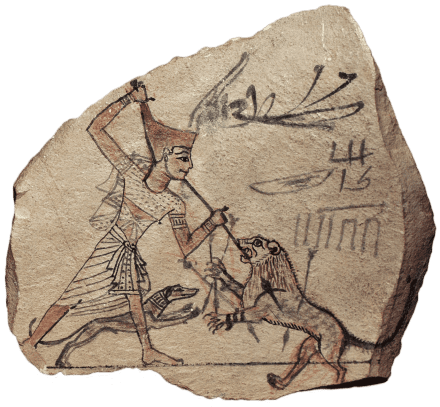 Farm-Food - Ancient-Pharaoh-and-his-Canis-Lupus-Familiaris-Dog-hunting-together.png
